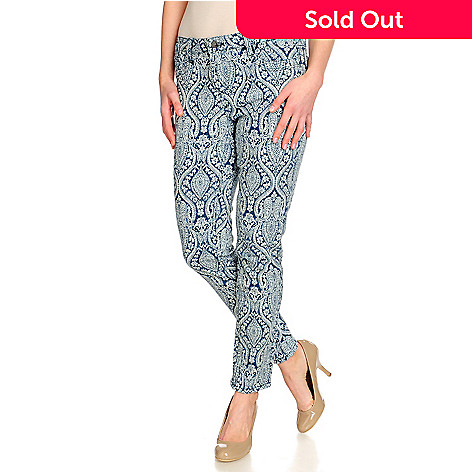 715-248 - OSO Casuals™ Stretch Denim Print to Solid Reversible Slim Straight Leg Pants