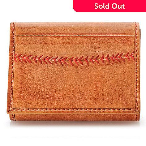 715-448 - Rawlings Men's Leather Baseball Stitched Tri-Fold Wallet