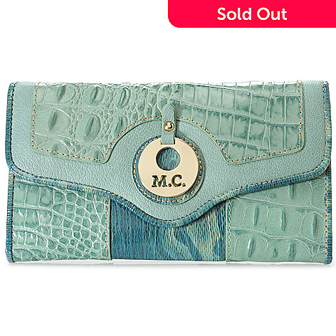 715-583 - Madi Claire ''Monica'' Croco & Snake Embossed Leather Flap-over Wallet