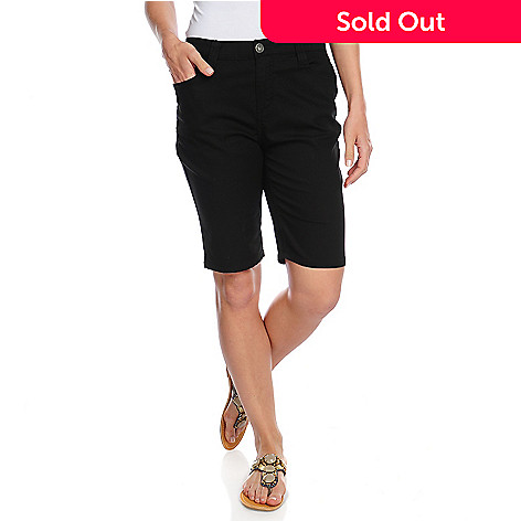 715-708 - OSO Casuals™ Stretch Twill Elastic Waist Five-Pocket Bermuda Shorts