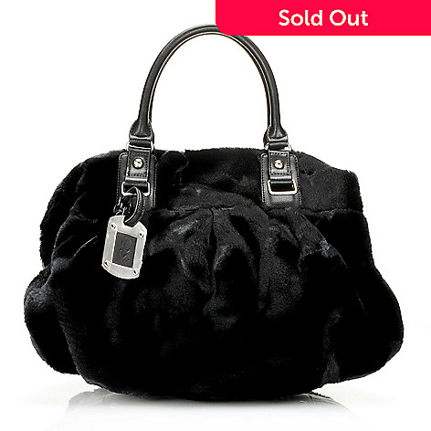 715-961 - Donna Salyers' Fabulous-Furs Faux Fur Double Handle Convertible Satchel