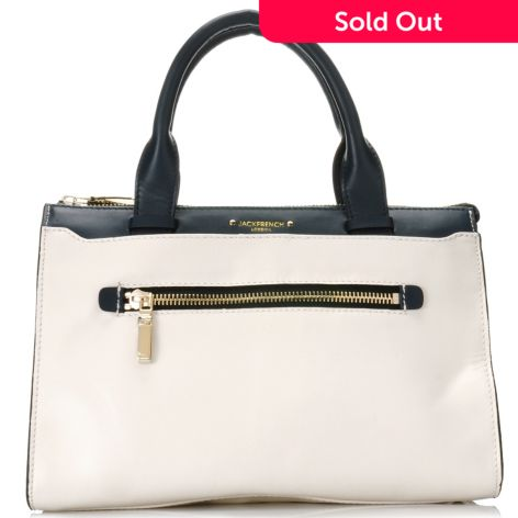 716-806 - Jack French London Leather Double Handle Multi Compartment ...