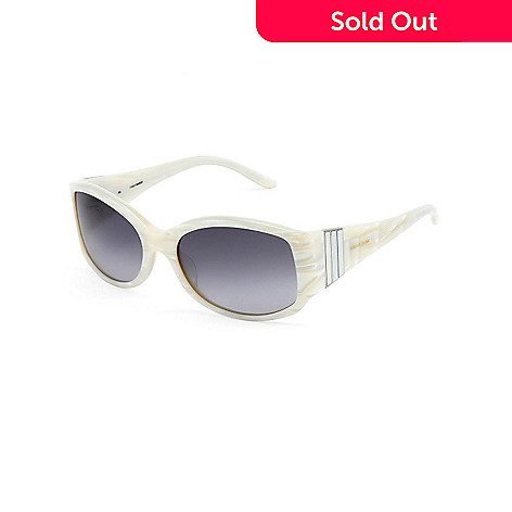 718-322 - Celine Dion Women's White Framed 5504WH57 Sunglasses
