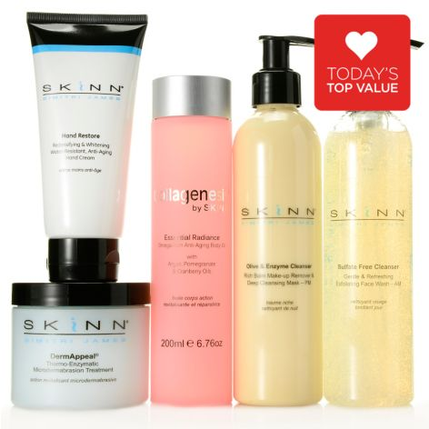 307-276 - Skinn Cosmetics Five-Piece Bonus Size Customer Favorites Anniversary Skincare Set