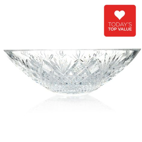 "439-716 - Waterford® Crystal Sullivan 13"" Wedge & Diamond Cut Flared Bowl"