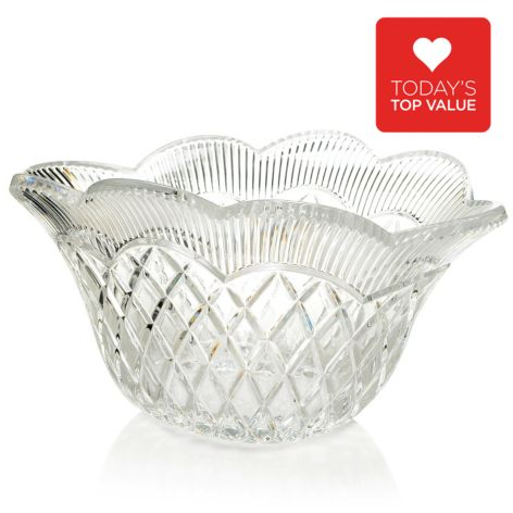 "450-103 - Marquis® by Waterford® Basket Weave Crystal 11"" Vase or 11.5"" Oval Bowl"