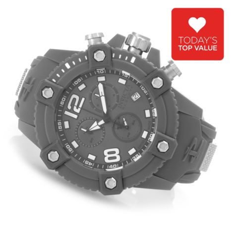 627-689 - Invicta Reserve 50mm Octane Swiss Chronograph Polyurethane Strap Watch w/ Eight-Slot Dive Case