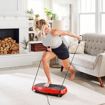 Fitness At Home - 002-701 Medic Therapeutics Vibrating Fitness Platform w Resistance Bands & Remote - 002-701