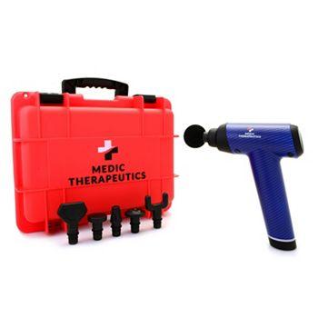 Under $100 - 002-705 Medic Therapeutics 20-Speed Handheld Percussive Massage Gun w 6 Attachments & Case - 002-705