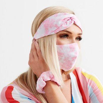 Social Distancing Tools Feel Prepared & Protected - 002-866 Medic Therapeutics X MAYAMAR Face Mask, Headband & Scrunchie Set - 002-866