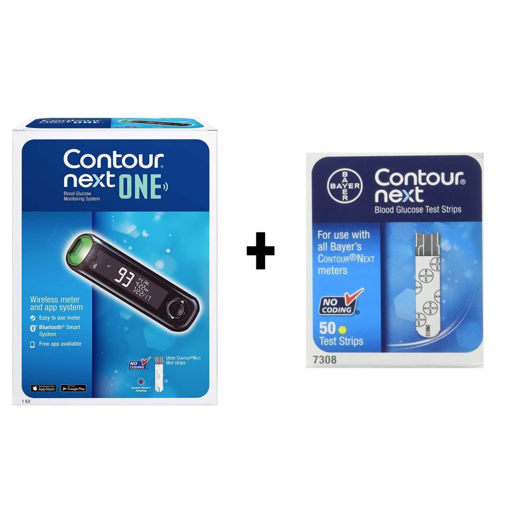 Contour Next One Blood Glucose Monitoring System 50 Contour Next Test Strips Shophq