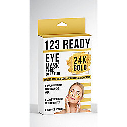 ZAQ 123 Ready 24K Gold Lift & Firm Gel Eye Patches - 5-Piece