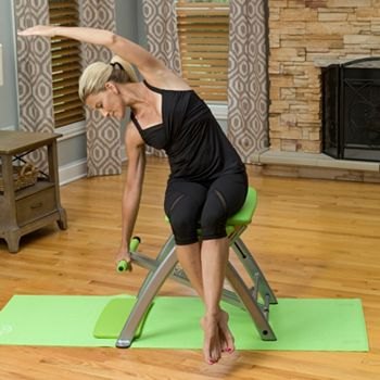 Fitness At Home No Membership Needed - 004-038 Pilates PRO Chair w Resistance Springs Wall Poster & 4 Workout DVDs - 004-038