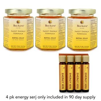 BeeAlive Tune In At 8PM ET - 004-179 BeeAlive Sweet Energy Formula Choice of Supply w Free 15 Day on 90 Day Supply - 004-179