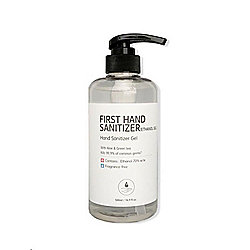 First Hand 75% Ethanol Hand Sanitizer w/ Aloe & Green Tea 500ml/16.9 fl. Oz. 4-8pk