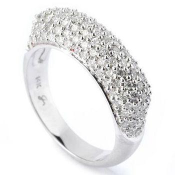 Dazzling Diamonds Classic Elegance - 133-775 SoHo Boutique 14K White Gold Diamond Pave Band Ring - 133-775