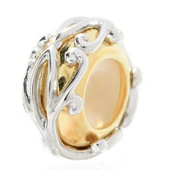 Charms Starting at $19.99 - 146-168 Gems en Vogue Polished Floral Overlay Rubber Stopper Slide-on Charm - 146-168