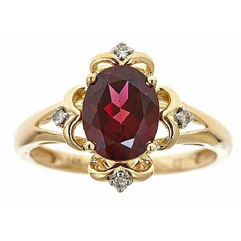 Jewelry Last Chance On Gold Up To 65% Off - 148-275 Fierra™14K Gold 2.16ctw Rhodolite & Diamond Ring - Size 7 - 148-275