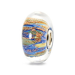 "Trollbeads ""Fountain of Life"" Hand-Crafted Glass Slide-on Charm"