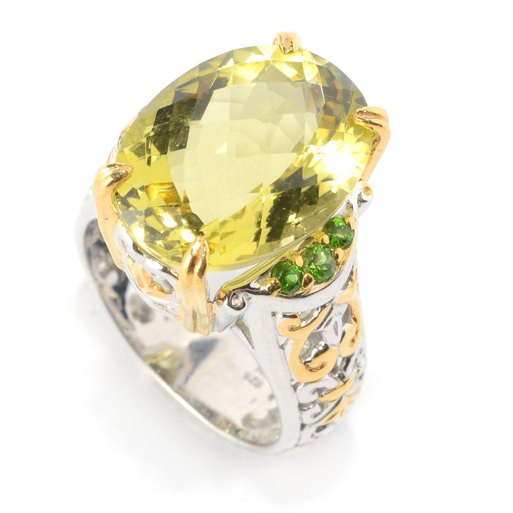 Michael Valitutti Palladium Silver Ultra-Faceted Smoky Quartz Cocktail Ring