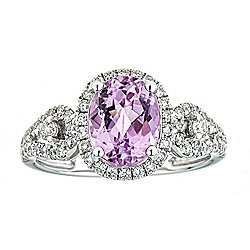 Fierra™ 14K White Gold 2.94ctw Kunzite & Diamond Ring - Size 7