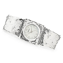 Passage to Israel™ Women's Quartz Mother-of Pearl Sterling Silver Bracelet Watch