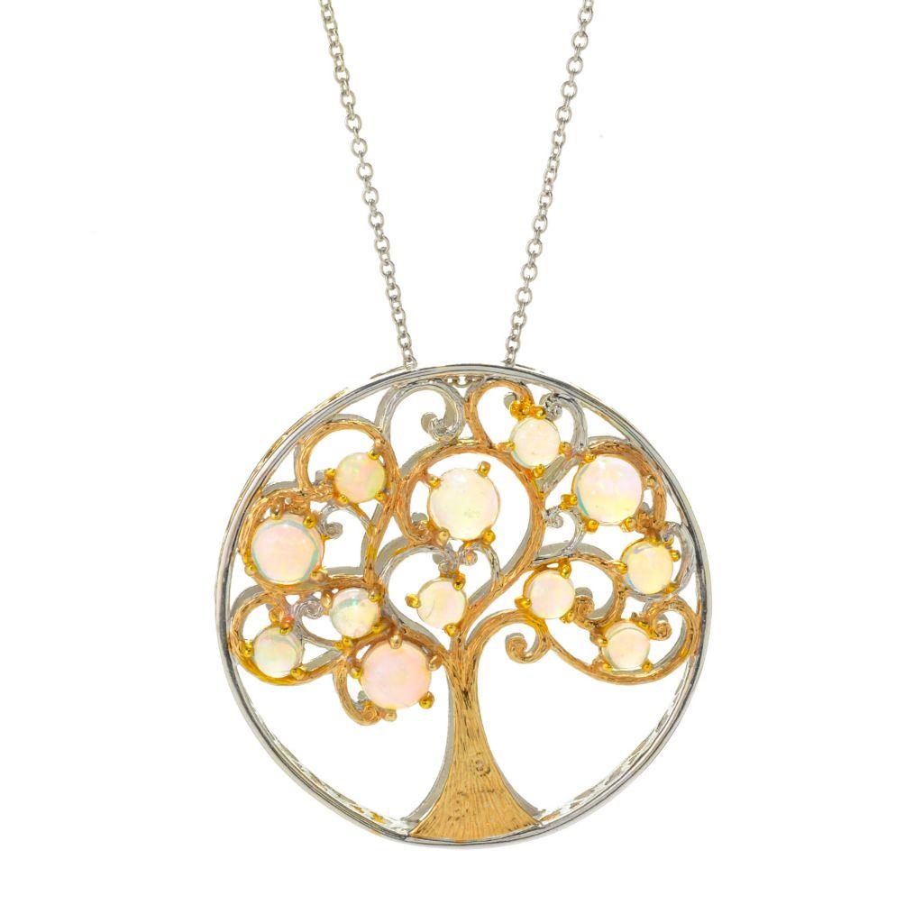 BOULDER OPAL Tree Of Life Pendant