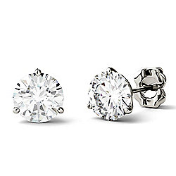 Forever One Colorless Moissanite 14K White Gold 1.00 DEW Stud Earrings