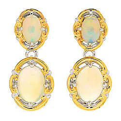 Gems en Vogue 8 x 6mm Ethiopian Opal Drop Earrings