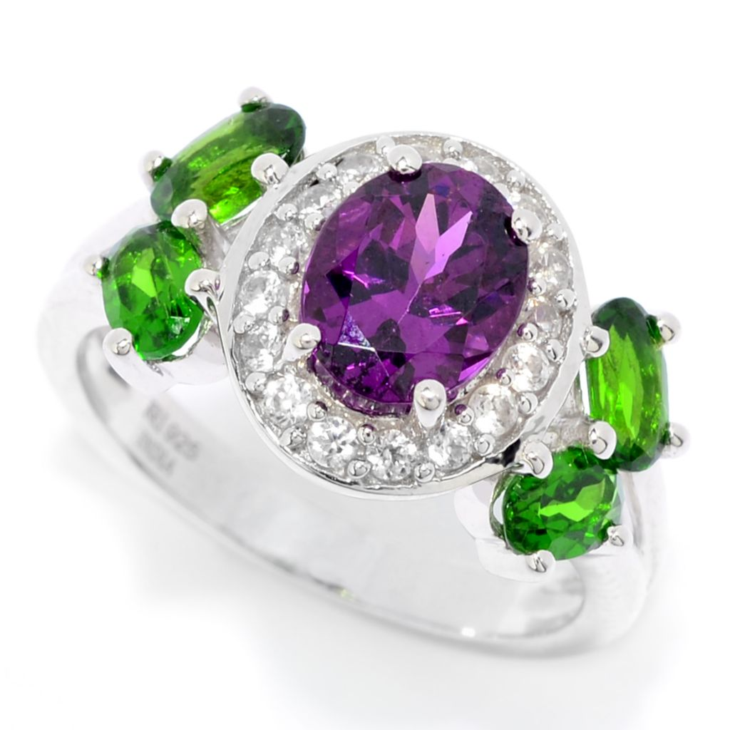 Details about  /Chrome Diopside Gemstone Engagement Ring 925 Sterling Silver Yellow Color