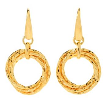 Gift Central Jewelry Hundreds of Gift Picks Under $50 - 168-479 Toscana Italiana 1.5 Polished Interlocking Multi Ring Drop Earrings - 168-479