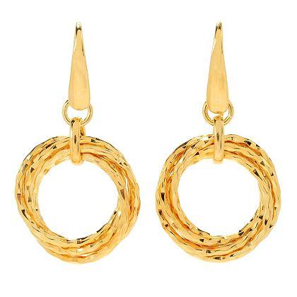 168-479 Toscana Italiana 1.5 Polished Interlocking Multi Ring Drop Earrings