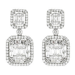 "Gems of Distinction™ ""Couture Collection"" One-of-a-Kind 18K Gold 1"" 2.33ctw Diamond Earrings"