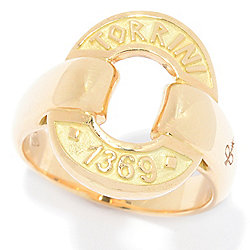 "TORRINI 1369 ""Icon"" 14K Gold Open Oval Band Ring, 7.9 grams"