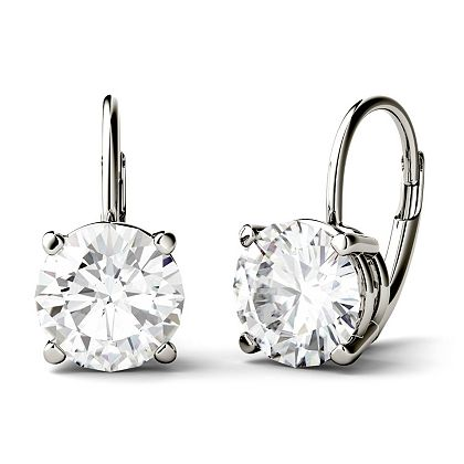 Web Exclusive Finds Items You Won't See On TV - 177-202 Moissanite by Charles & Colvard 14K Gold Leverback Drop Earrings