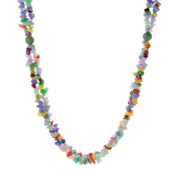 Free Gifts w Purchase Give One, Keep One - 177-667 Kwan Collections Sterling Silver 32 Multi Color Jade Bead Necklace w 2 Extender - 177-667