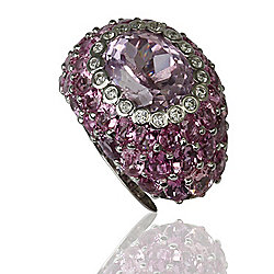 Galerie de Bijoux® Tresor Collection 18K Gold 15.10ctw Kunzite, Pink Sapphire & Diamond Ring