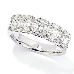 Gems of Distinction Couture Collection 14K White Gold 1.09ctw Diamond Band Ring