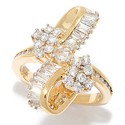 "Diamond Treasures® ""Waterfall"" 14K Gold 1.35ctw Diamond Ring"