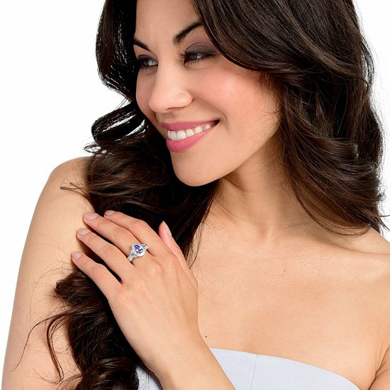 Lowest Prices Ever New Items Added Daily 183-735 Gem Treasures® Choice of Shape Tanzanite & White Zircon Halo Ring