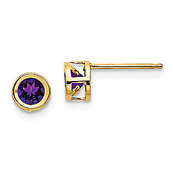 Gold Standard Jewelry Company 14K Gold Amethyst Stud Earrings