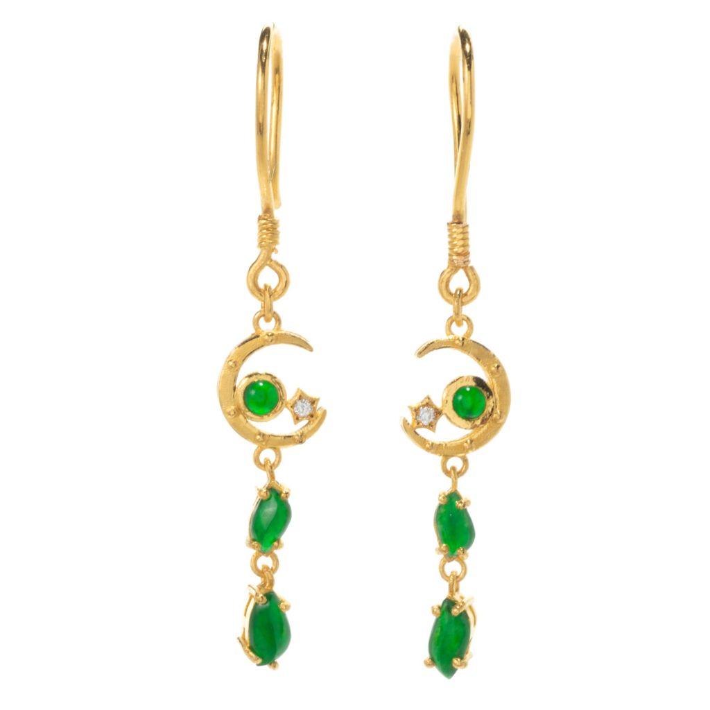 Crescent jade necklace worn jadeite beauty