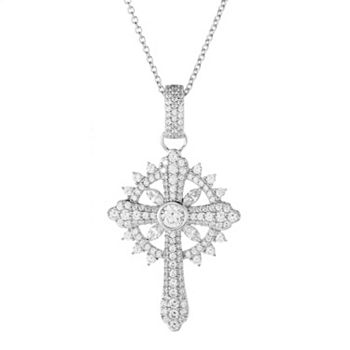 Gifts that Sparkle Under $75  Ft. Victoria Wieck - 184-361 Victoria Wieck for Brilliante® 3.77 DEW Simulated Diamond Cross Pendant w Chain - 184-361