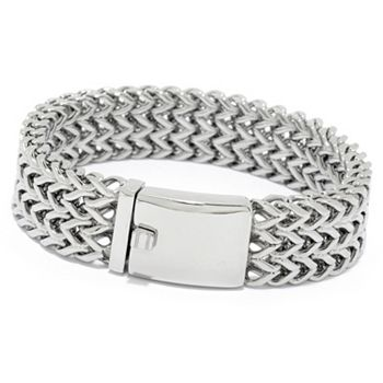 185-758 Invicta Jewelry Men's Stainless Steel 9 or 10 Woven Bracelet - 185-758
