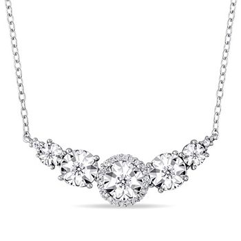 Necklaces - 186-809 Jules by Julianna B. Sterling Silver 17 0.15ctw Diamond Necklace - 186-809