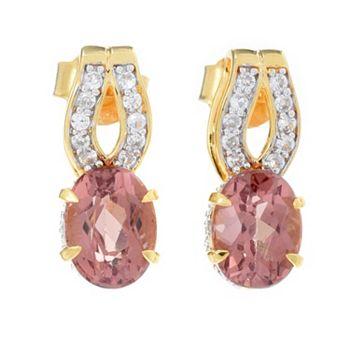 - 188-350 Victoria Wieck 3.03ctw Red Apatite & White Zircon Earrings - 188-350