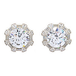 Victoria Wieck for Brilliante® 5.52 DEW Simulated Diamond Halo Stud Earrings