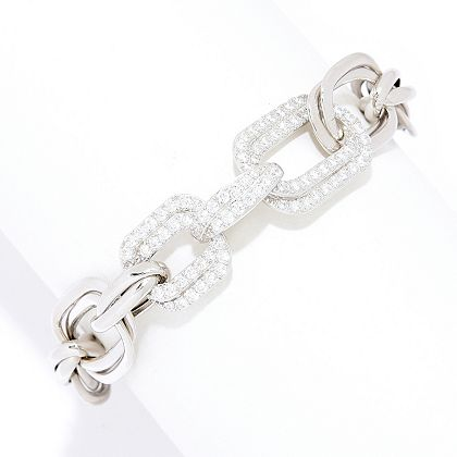 Lowest Prices Ever New Items Added Daily  189-869 Victoria Wieck for Brilliante® Choice of Size Simulated Diamond Link Bracelet