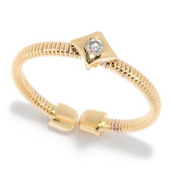 Galerie de Bijoux Free Shipping Limited Time Only ft 192-690 Sonia Bitton Galerie de Bijoux® 14K Gold 0.16ctw Diamond Curb Link Ring - 190-419