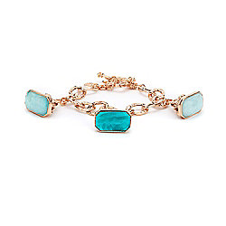 "Tagliamonte 18K Rose Gold Embraced™ 7.5"" Large Charm Toggle Bracelet"
